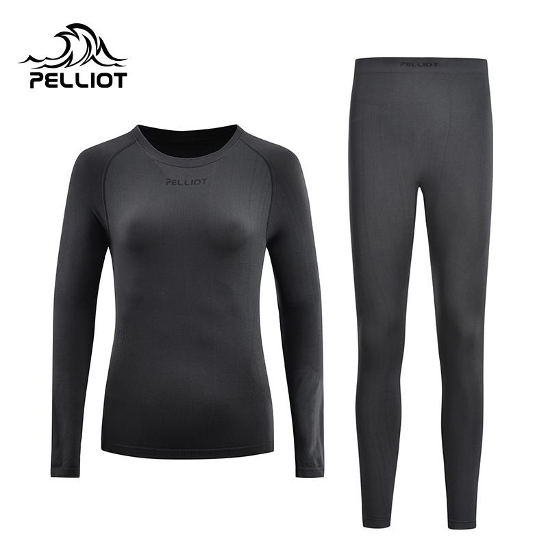 伯希和户外运动功能内衣 男女冬季滑雪骑行紧身衣保暖内衣裤套装