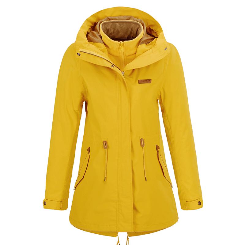 女潮牌三合一秋冬中长款防风防水两件套登山服 伯希和户外冲锋衣