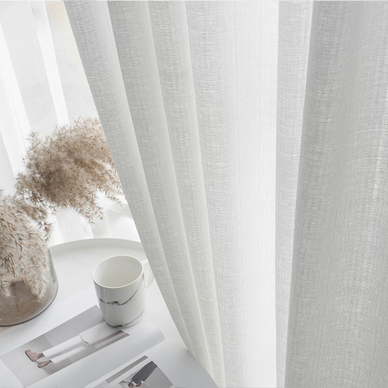 窗帘纱帘北欧透光不透人白纱窗帘窗纱客厅卧室阳台纱白色纱窗帘纱