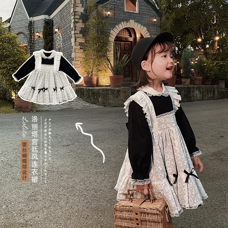 童洋气女仆装时髦裙子