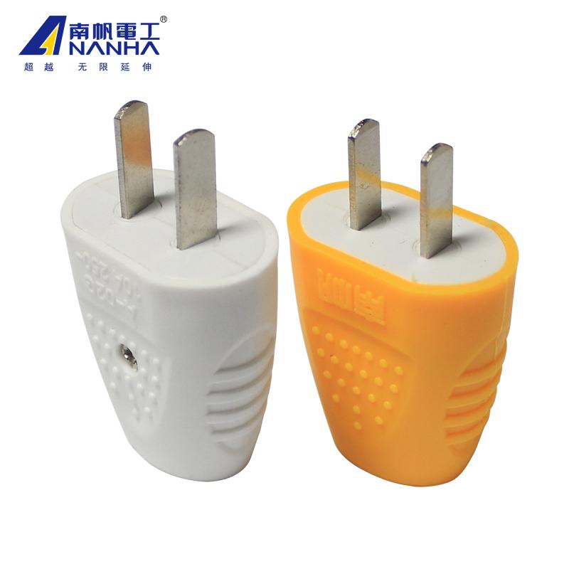 两脚转动插头10A单相二级插头二脚扁电源插头2孔两眼可拆旋转插头