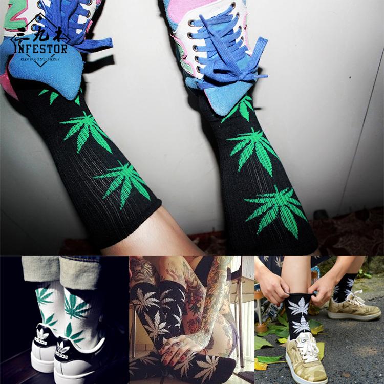 麻葉襪個性潮男襪子中筒長襪滑板襪原宿棉襪死飛創意運動襪街頭