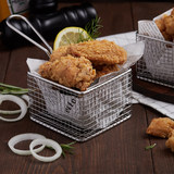 French fries basket hotel restaurant coffee shop creative tableware stainless steel container fried snack basket mini fried basket