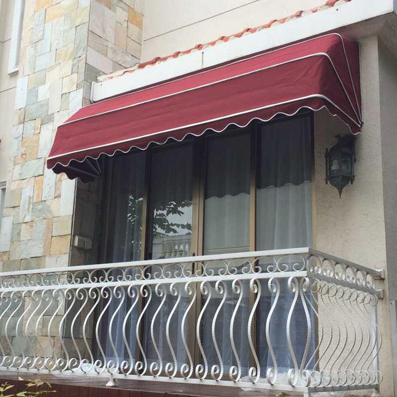 定做折叠法式蓬遮阳篷西瓜棚门头遮雨棚别墅窗户雨篷咖啡厅装饰篷