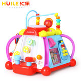 Villo happy little world toys, baby toys, desktop multifunction hexahedral puzzle game table for children 1-3 years old