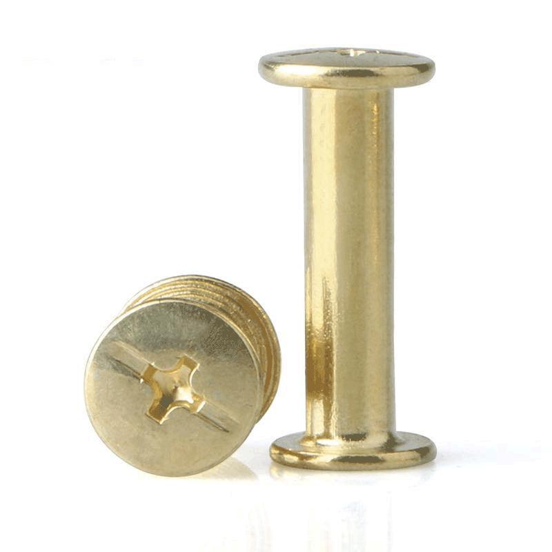 镀铜帐本螺丝子母钉账本对接对锁子母铆钉相册菜谱钉M5