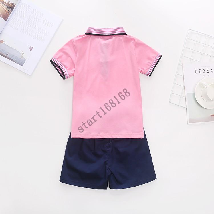 斯踏迪starting幼儿园服夏装儿童短袖T恤套装小学生班服翻领上衣