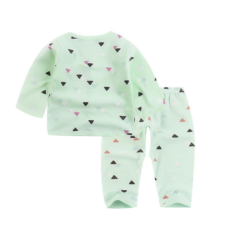 1  个月新生儿衣服秋装家居服宝宝初生儿套装 6 婴儿衣服套装纯棉 0 岁