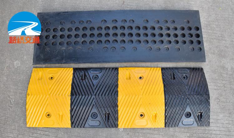 高抗压减速带 加厚橡胶减速板 5CM减速带 超强承重减速路拱减速垫
