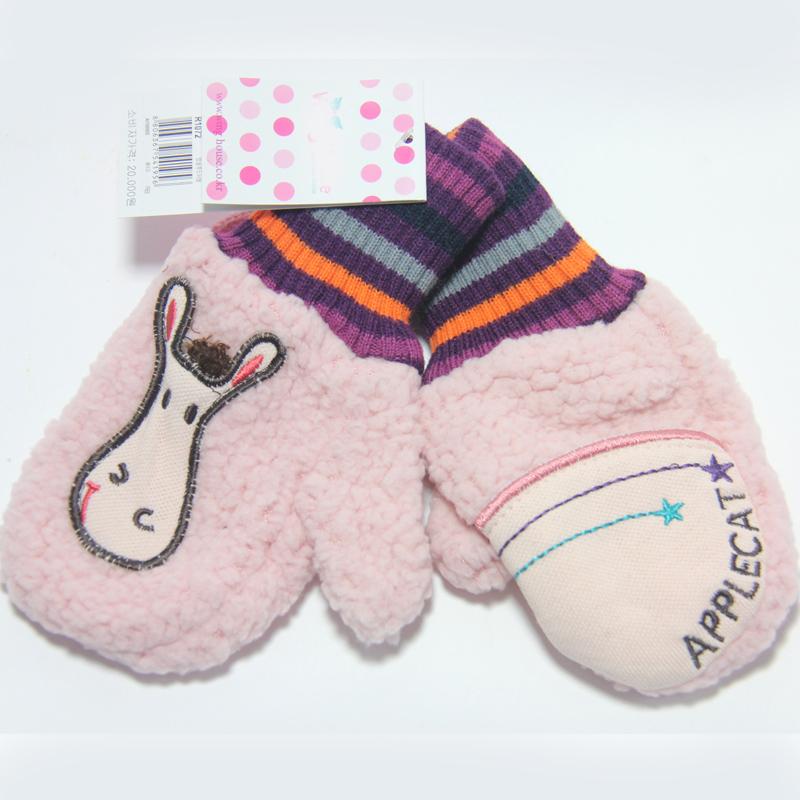 韩版 宝宝婴儿手套 儿童手套 宝宝绒手套 冬款保温手套0011