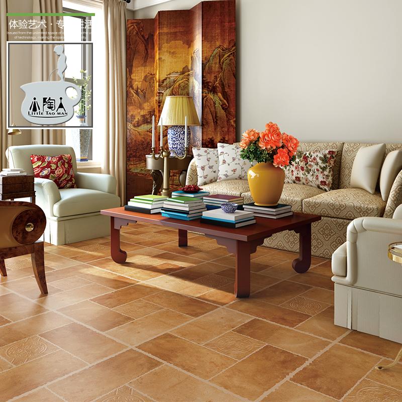 室内客厅大厅仿古瓷砖防滑地砖地中海灰色水泥砖庭院复古砖花砖美