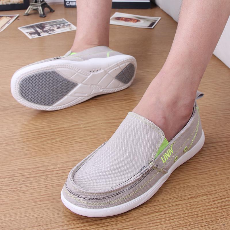 輕便鞋男夏季一腳蹬老北京布鞋透氣45大碼休閒鞋46防臭賴懶人步鞋