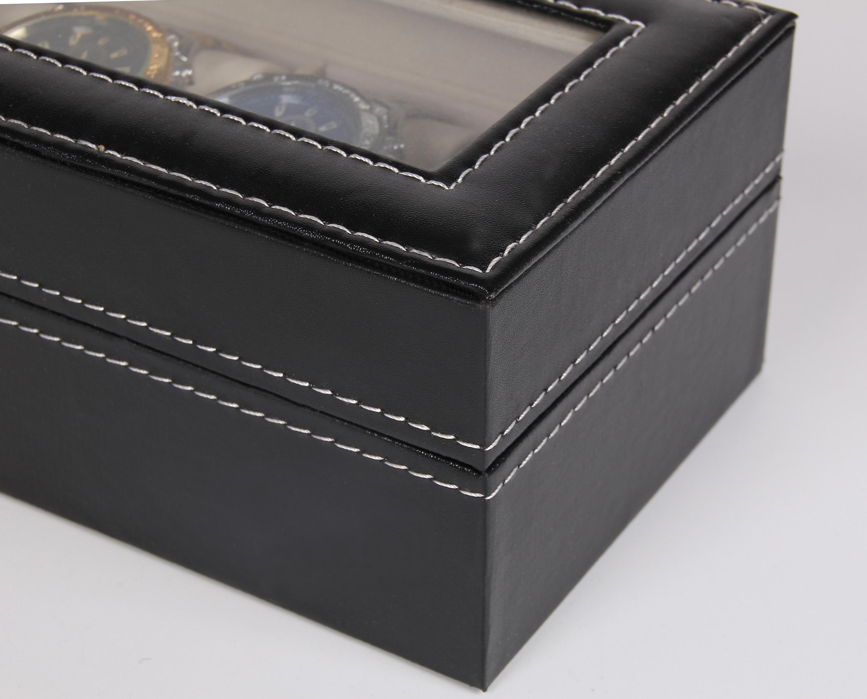 皮质首饰盒六位收纳盒 手表盒 pu手表展示盒 手表礼盒包装盒 包邮
