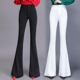 2020高腰微喇叭裤女秋冬新款韩版显瘦阔腿垂感大喇叭裤西装长裤子