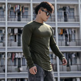 BLUESFLY Original Slim Plus Long Sleeve Bottoming Sports T-shirt Fitness Top Men's Round Neck Training Autumn Winter Outdoors