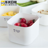Japan imported NAKAYA refrigerator fresh-keeping box square plastic box food box bento box sealed box refrigerated box