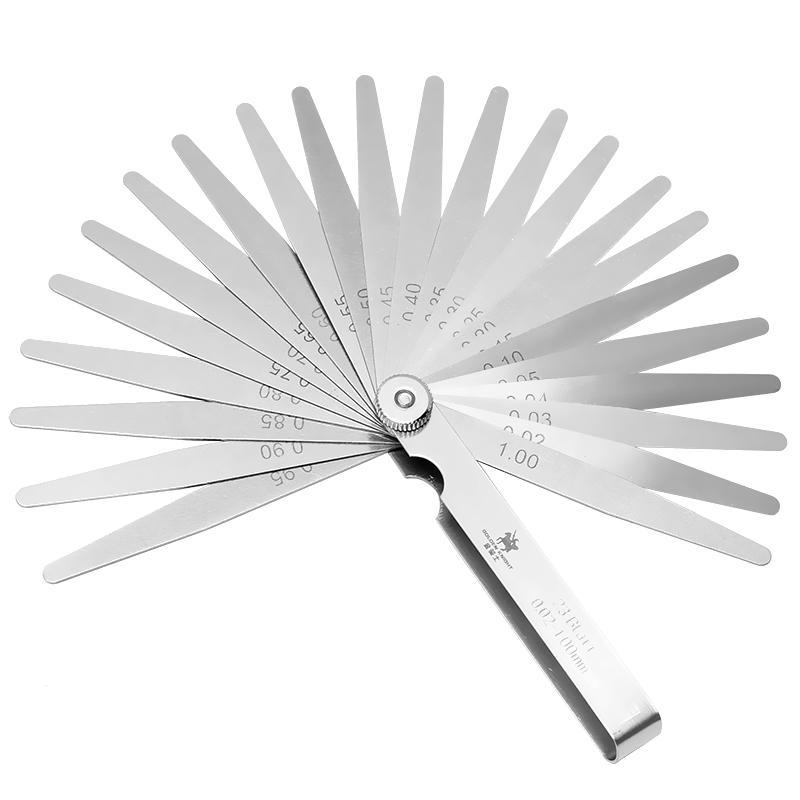 包邮塞尺间隙尺不锈钢高精度单片气门塞规厚薄规0.02-1.0MM测量