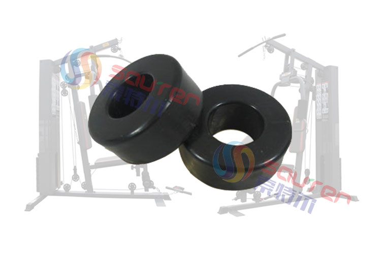 综合训练器配件减震垫健身器材配件单人三人站配重减震垫缓冲垫黑