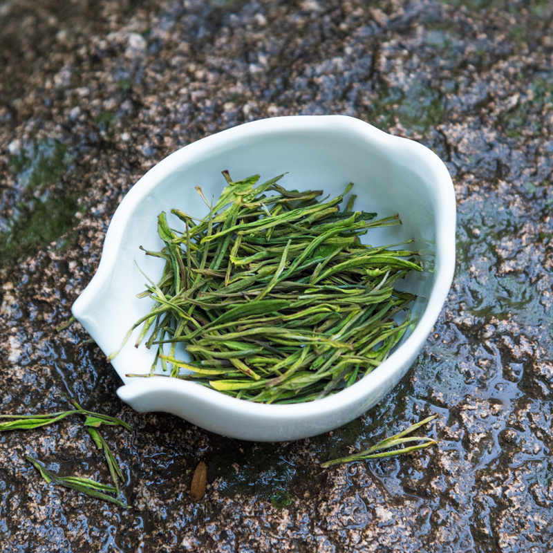 克雨前一级绿茶春茶叶买一送一 50 新茶安吉白茶 2018 贡牌