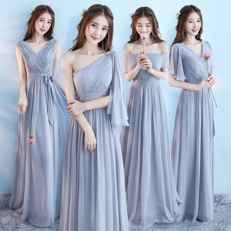 姐妹团伴娘服2018新款韩版闺蜜装婚礼伴娘裙子女长款礼服显瘦优雅