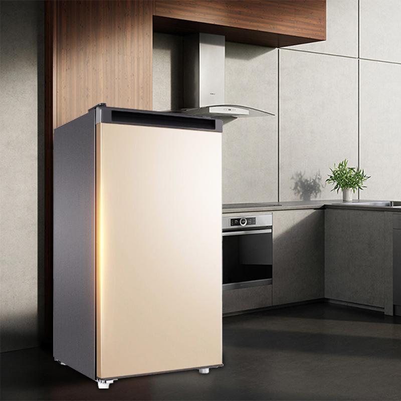 家用小型抽屉式立式冷柜节能单门冰箱 151 138 102 海尔立式冰柜