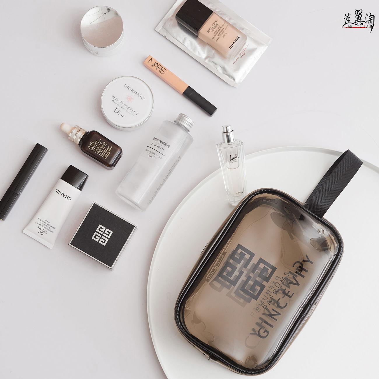 化妆包女便携2020新款超火大容量旅行防水洗漱品ins风透明收纳袋【图3】