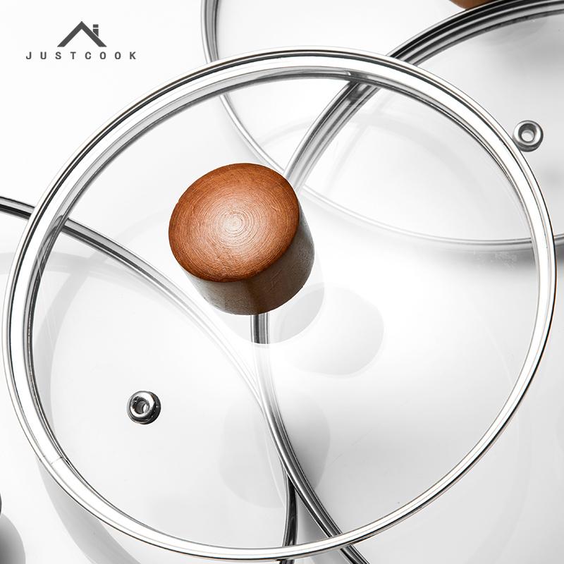嘉士廚通用可視鋼化玻璃鍋蓋16 18 20 22 24 26CM炒鍋湯鍋蒸鍋蓋