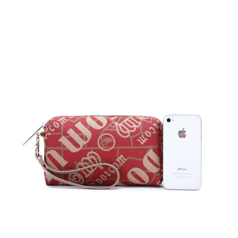 手拿包新款潮流帆布女包手包大容量信封包手抓包手机钱包8055