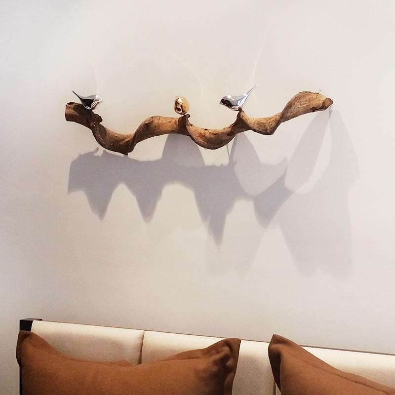 创意家居立体墙贴装饰品挂饰墙面壁饰抽象鸟沙发背景墙装饰电镀鸟
