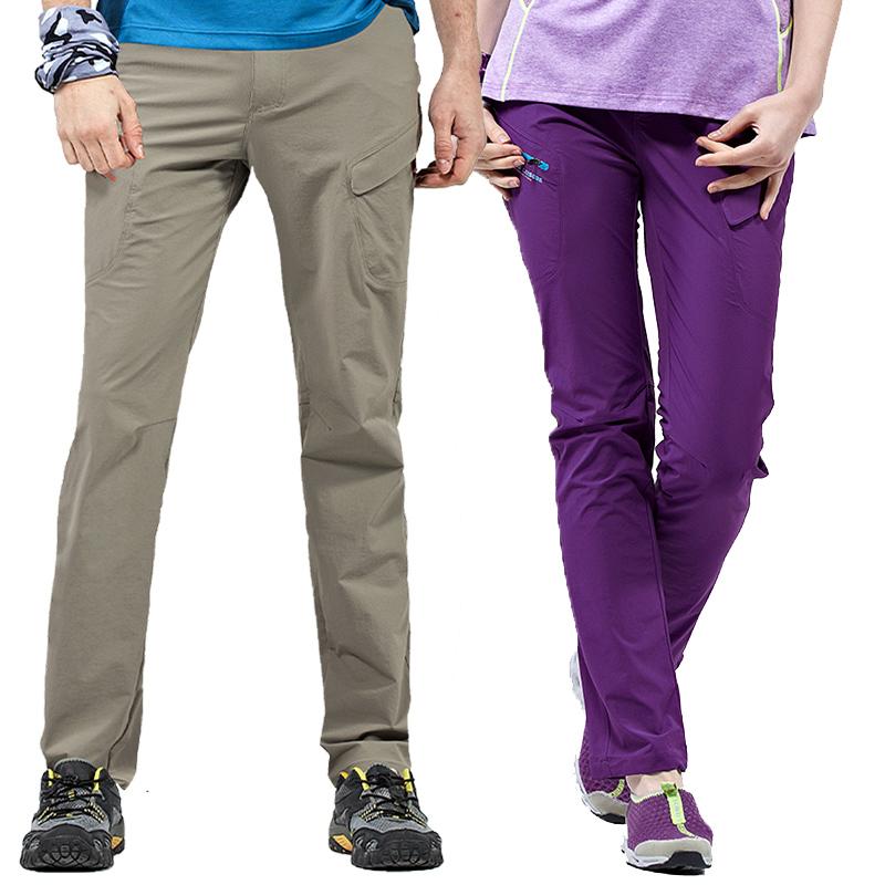 超斯特春夏季情侣户外速干裤男女弹力修身快干裤薄款登山运动长裤