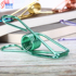 Sigerton large, medium and small spring fishtail clip electroplating color hollow long tail clip bag household folder wholesale