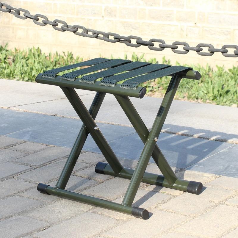 军训马扎 折叠小凳子带靠背 加厚铁马扎 折叠凳子便携式户外超轻