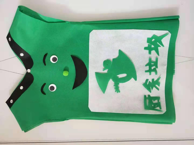 手工环保桶有害垃圾筒可回收箱学校表演服装亲子装服垃圾分类服装