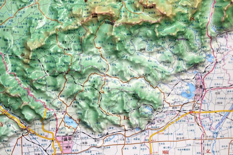 立體分省立體地形圖大型立體 3d 精雕凹凸立體地圖掛圖辦公裝飾學習展示地理地貌地形情況 立體地圖 米 x0.8 米 1.1 新北京地形圖 2017