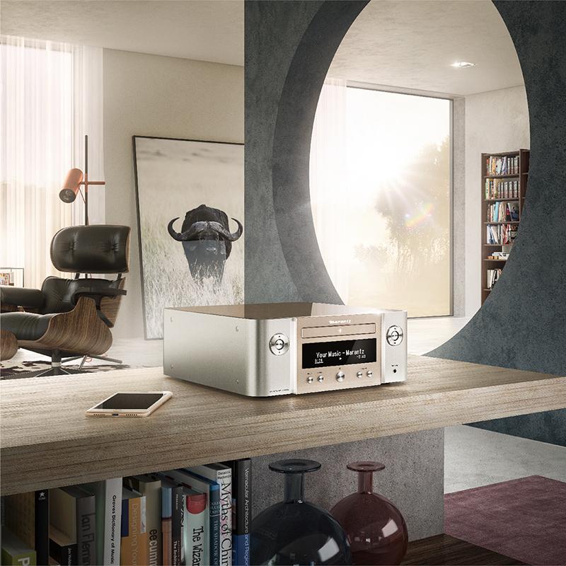 马兰士 M-CR612 发烧CD机播放器功放一体机网络WIFI蓝牙CD播放机家用CD机hifi音响套装台式组合音响