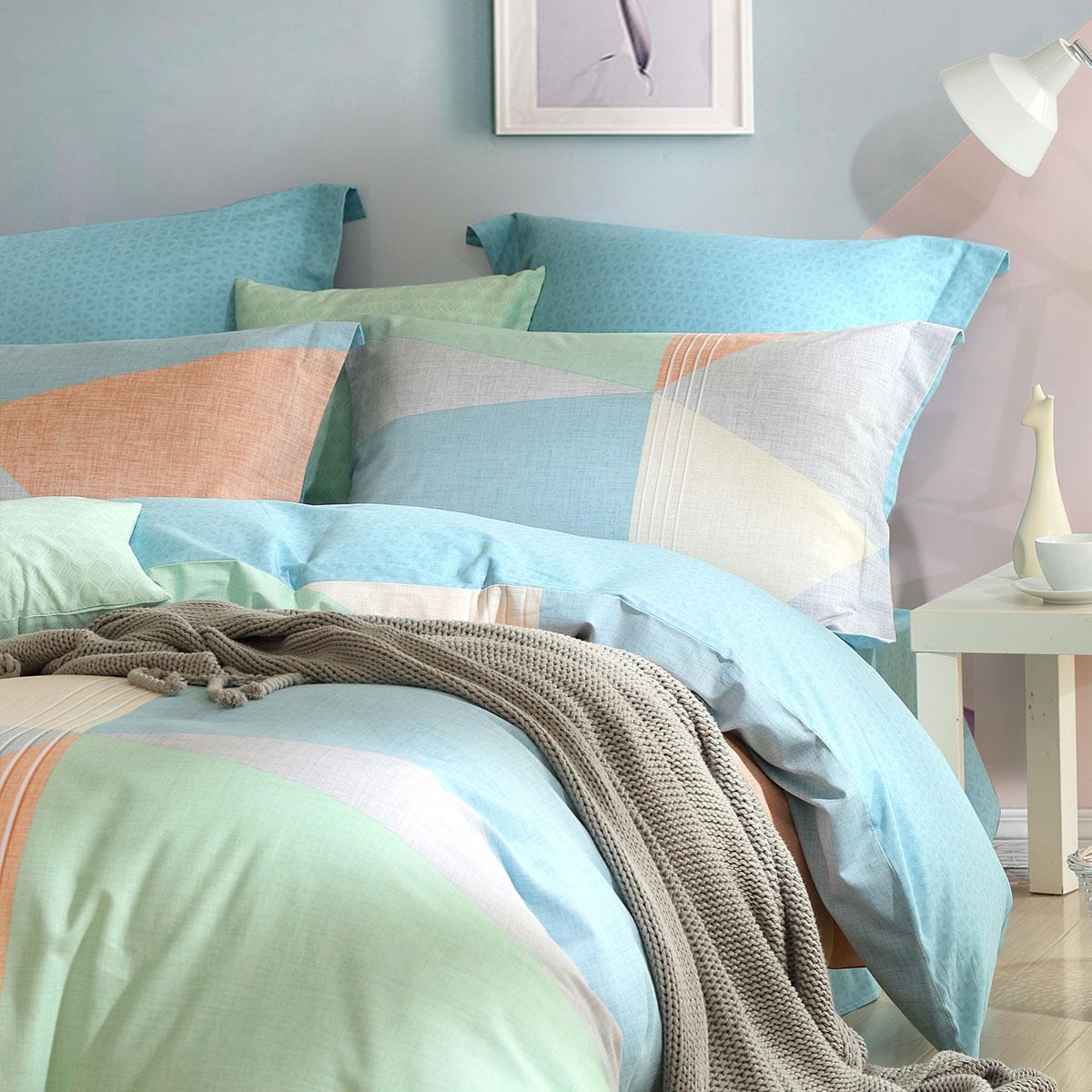 双人床单套件床上用品 1.8m 水星家纺磨毛四件套全棉纯棉耳语海岸