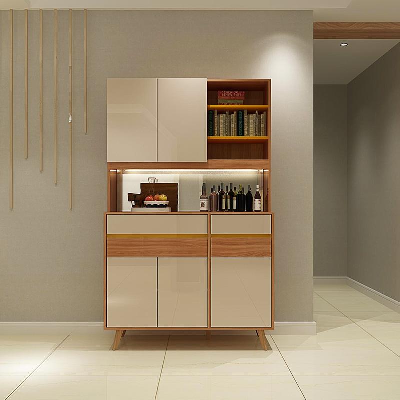 一米爱家具 现代简约酒柜 客厅餐边柜 北欧风格酒柜隔断柜储物柜