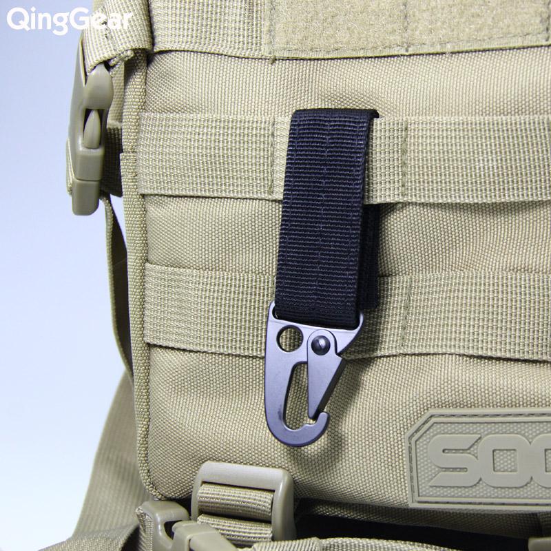 腰带扣 皮带快挂 织带钥匙扣 系统鹰嘴扣 MOLLE 多功能快挂战术扣