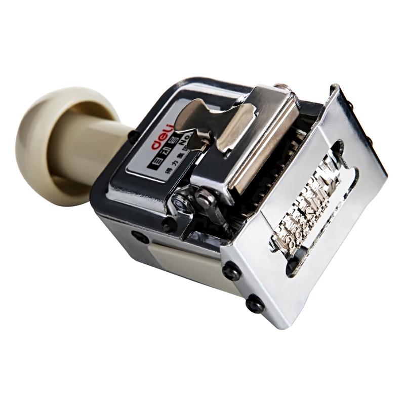 得力自动号码机 打码机6位数7位8位9位10位12位13位15位日期印打印机号码印 页码器银行财务印章办公编码机