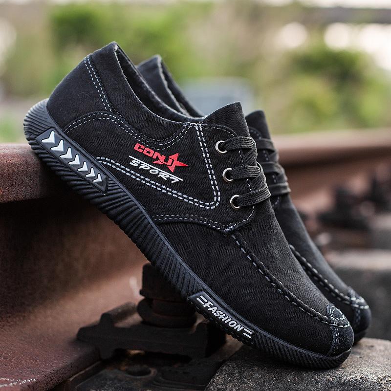 夏季新款2018老北京布鞋防臭青年休闲鞋男士透气板鞋软底帆布男鞋