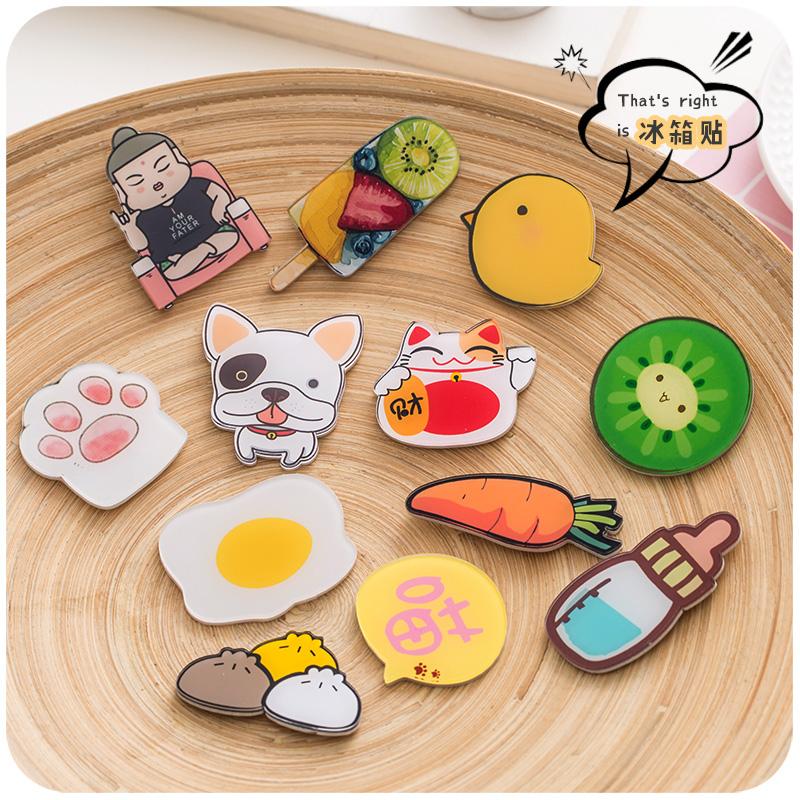 默默爱卡通可爱冰箱贴磁贴小磁铁 韩国创意家居装饰吸铁石磁性贴