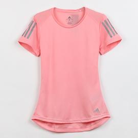 阿迪达斯短袖女粉色健身训练T恤2020春季新款运动透气半袖FL7815