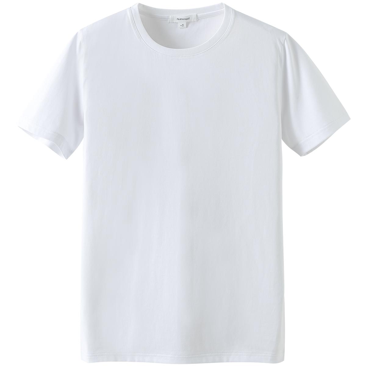 马克华菲官方旗舰店 t恤男装上衣半袖打底衫夏季白色男士短袖衣服高清大图