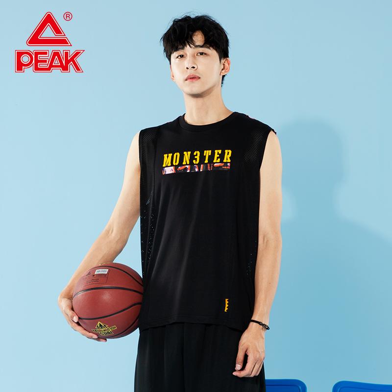 匹克运动背心男2020新款篮球文化运动T恤时尚潮流篮球服宽松背心D