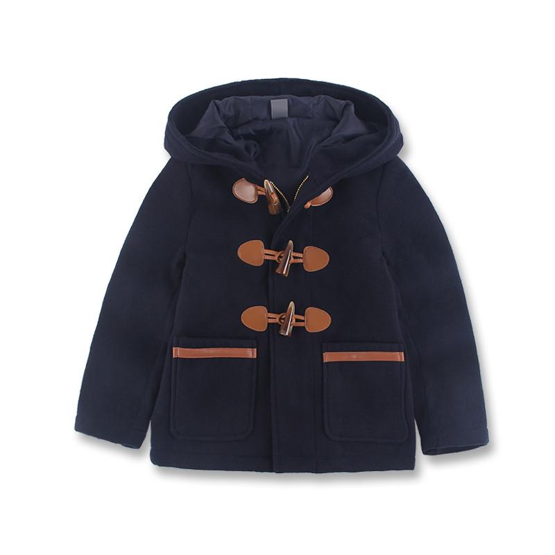童装春秋装男童外套儿童呢大衣外套儿童韩版毛呢长款加厚风衣潮