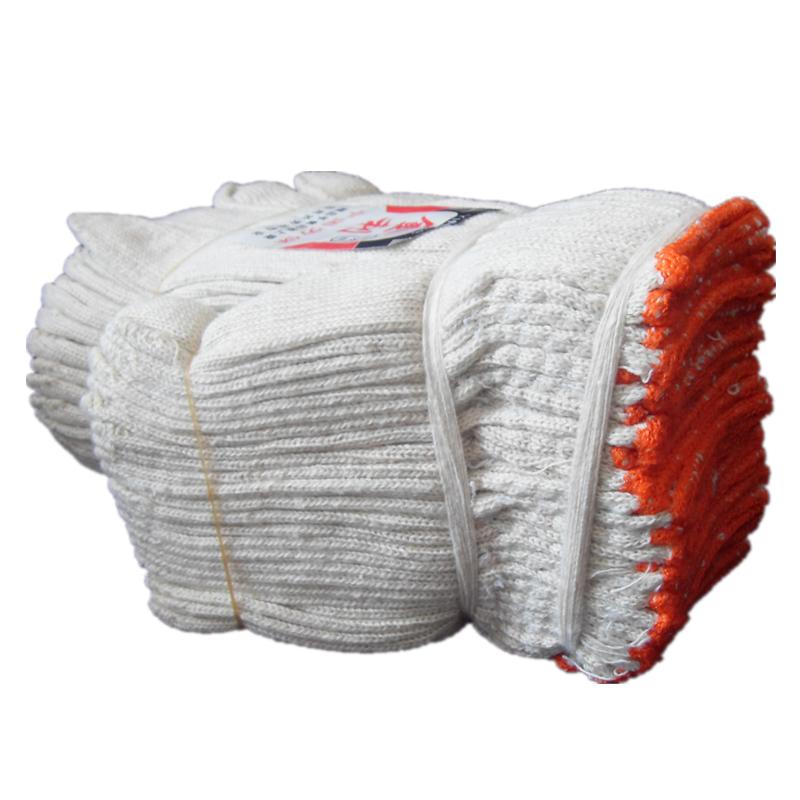 6双劳保手套棉纱白色尼龙耐磨