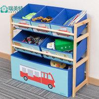 儿童玩具收纳架家用实木分类整理架幼儿园玩具柜多层置物储物架子 (¥75)