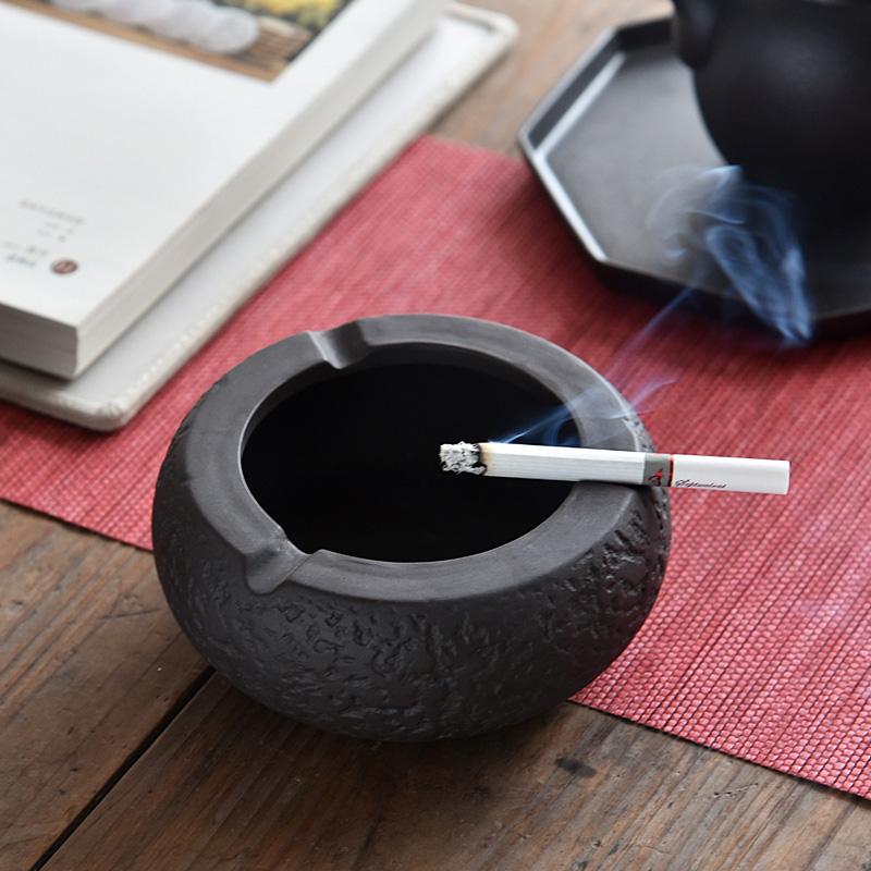 烟灰缸创意时尚大号不带盖水晶玻璃烟灰缸卧室客厅个性陶瓷烟缸