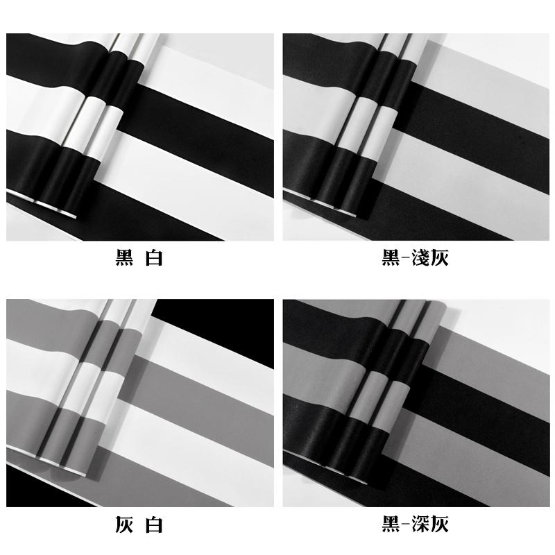 黑白色横竖条纹墙纸现代简约客厅卧室咖啡餐厅服装店电视背景壁纸
