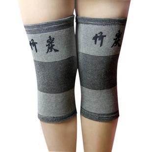 正品包郵竹炭纖維運動保暖護膝 男女通用護腿 買二件贈自發熱護頸
